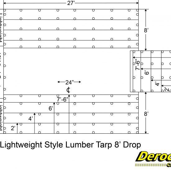 Lightweight Style Lumber Tarp 8' Drop