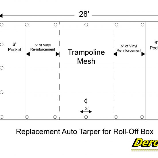 Replacement Auto Tarp for Foll-Off Box-01