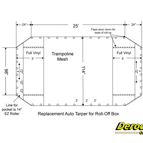 Replacement Auto Tarper for Roll-Off Box-01