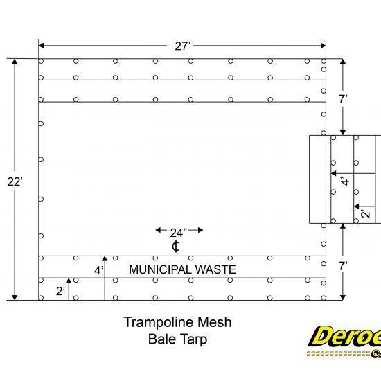 Trampoline Mesh Bale Tarp-01